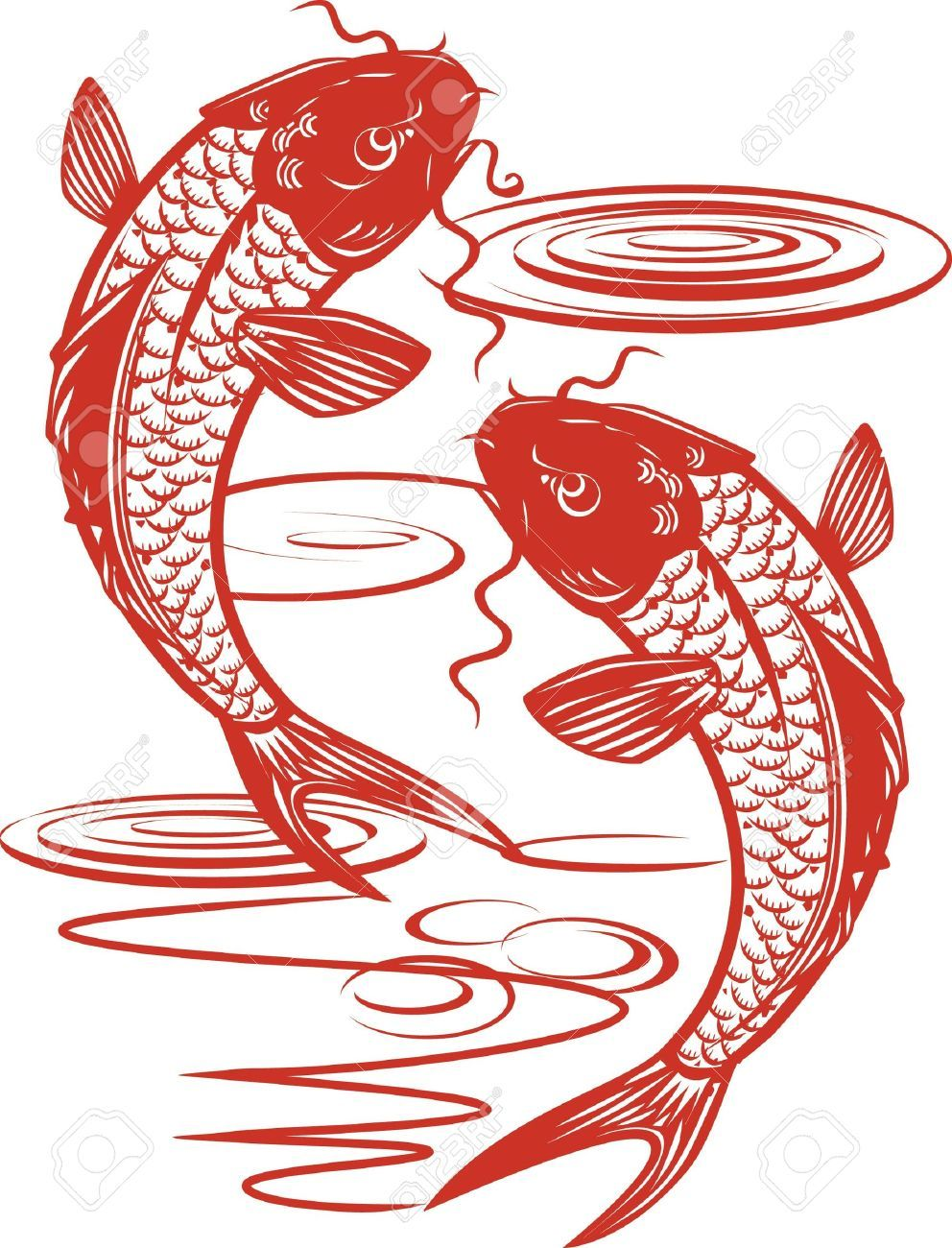 Koi Fish Stock Vector Illustration And Royalty Free Koi Fish Clipart ...