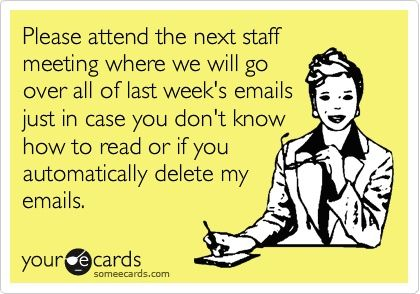 Probably shouldnt put this in the next staff meeting invite... lol