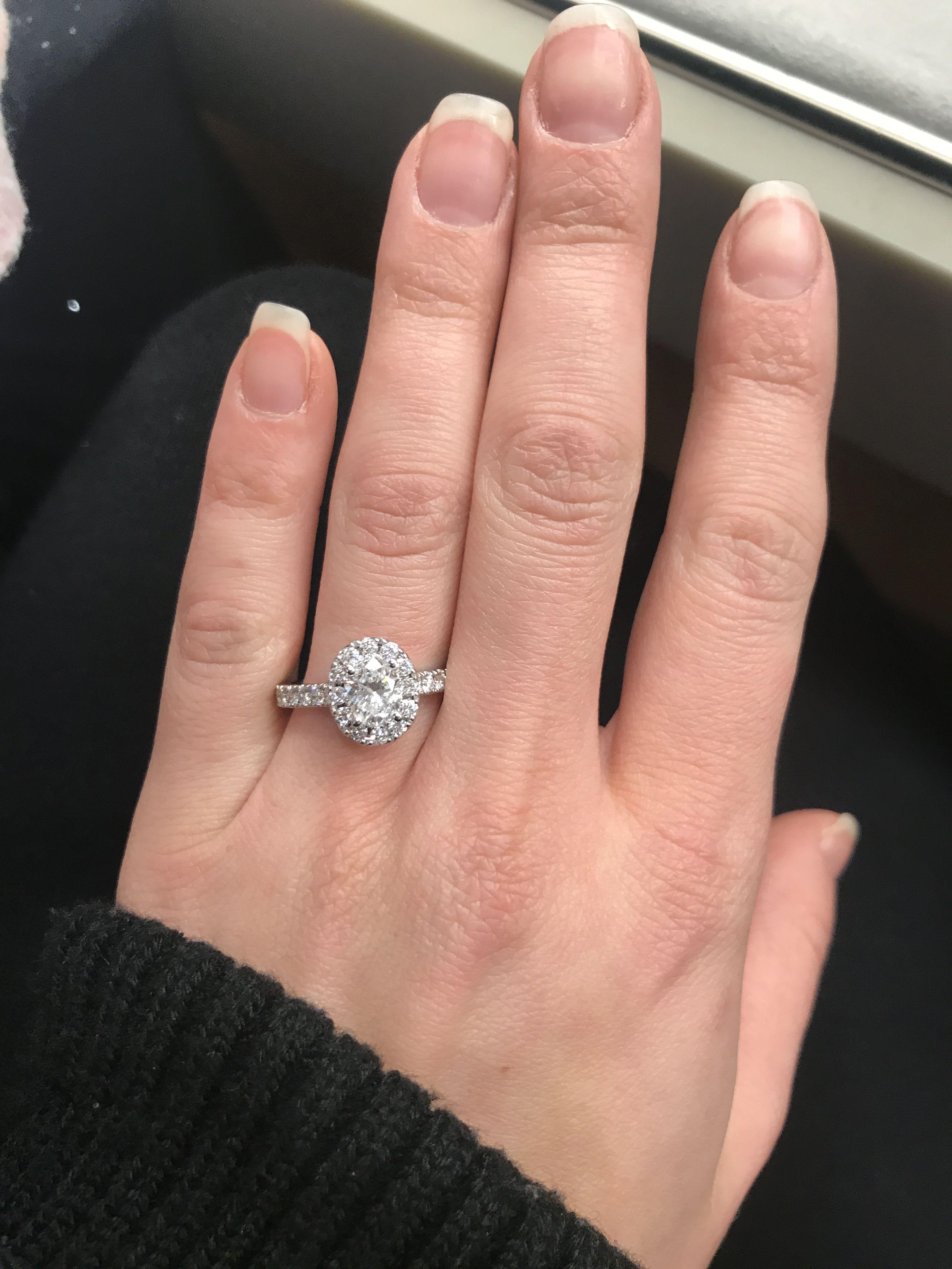 Neil Lane Oval Halo Engagement Ring Rings Cushion Wedding