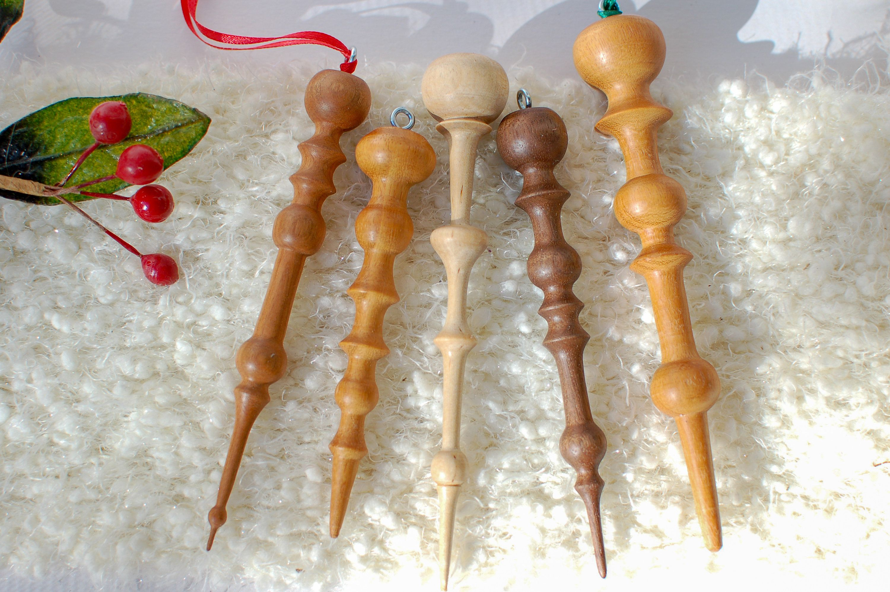 Hand Turned Wooden Icicle Christmas Tree Ornament In Natural Etsy Christmas Wood Crafts Wooden Christmas Ornaments Wood Christmas Ornaments