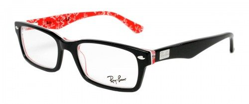 b408770735 Ray Ban RX5206 Black on Textured Red