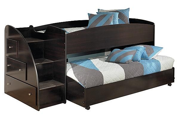 The Embrace Youth Loft Bed From Ashley Furniture Homestore Afhs Com The Dark Finish And