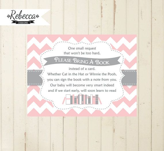 photograph relating to Bring a Book Instead of a Card Printable named Boy or girl shower reserve add convey a e-book card printable carry a