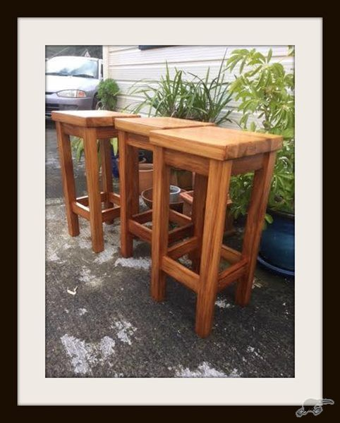 Restored Solid Heart Rimu Bar Stools X3 Trade Me Our Furniture Pinteres