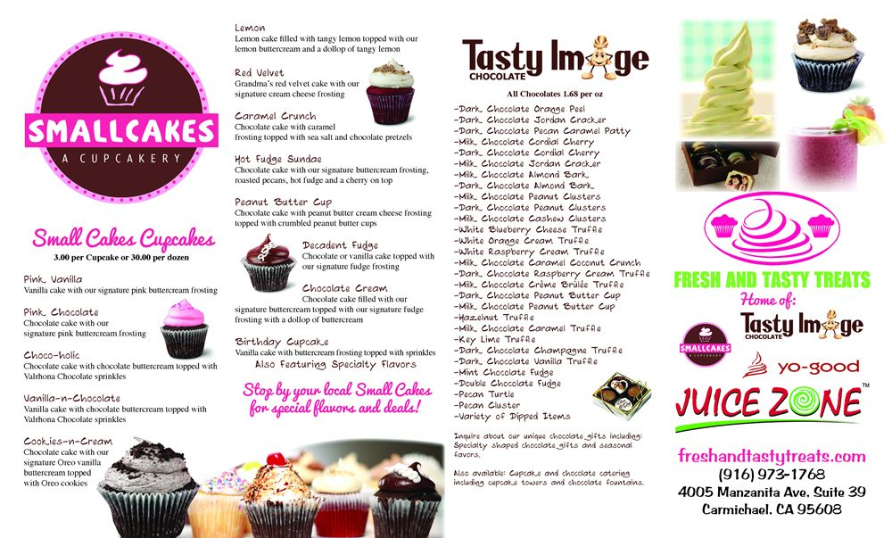 Restaurant To-Go Menu Graphic Design Services for Juice and Bakery