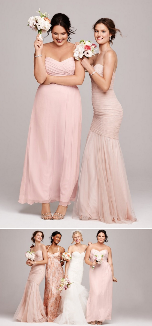 Blush beauties -- gorgeous bridesmaid looks -- available in plus sizes too! #MoreOnTheBlog