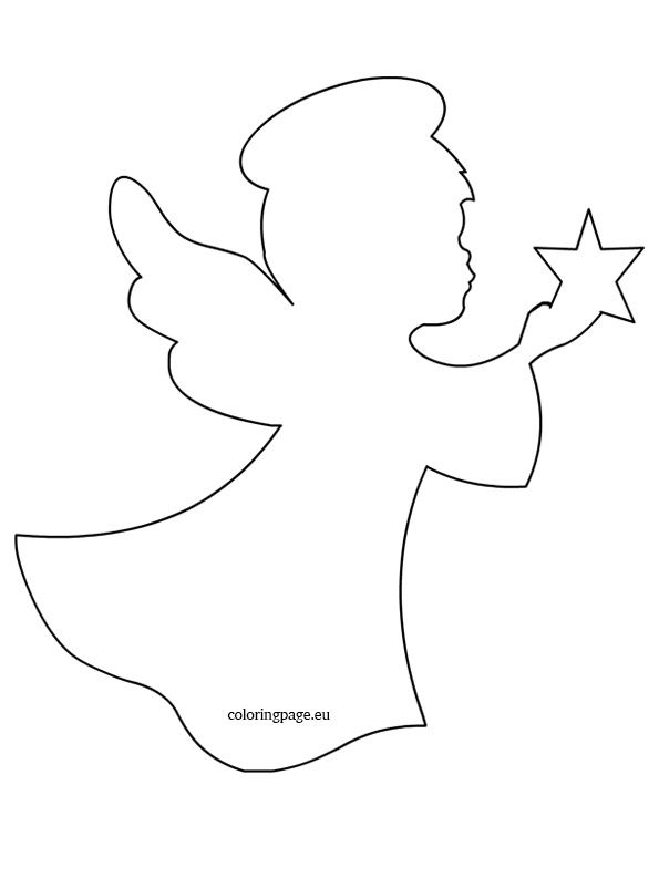 Revered image throughout angel templates printable free