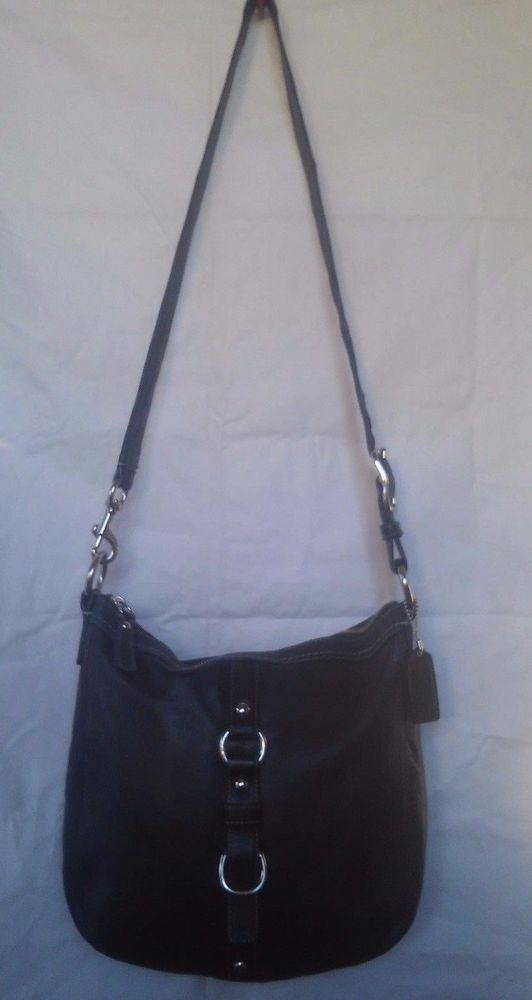 e343b213487e Coach F14018 Chelsea Duffel Leather Black Bag Purse Size 11x11x3 Free  Shipping…