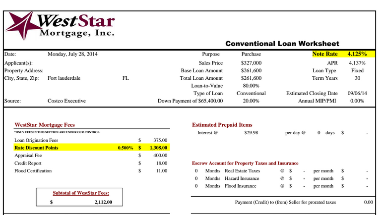 west star mortgage loan quote