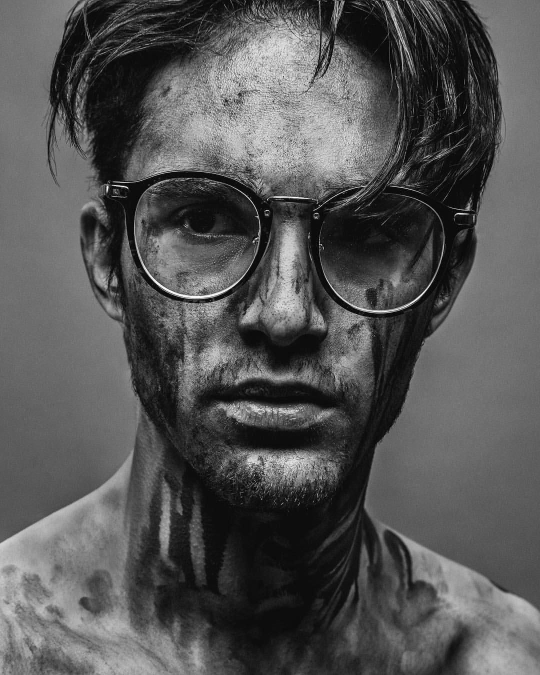 Creative Black And White Portrait Photography Men