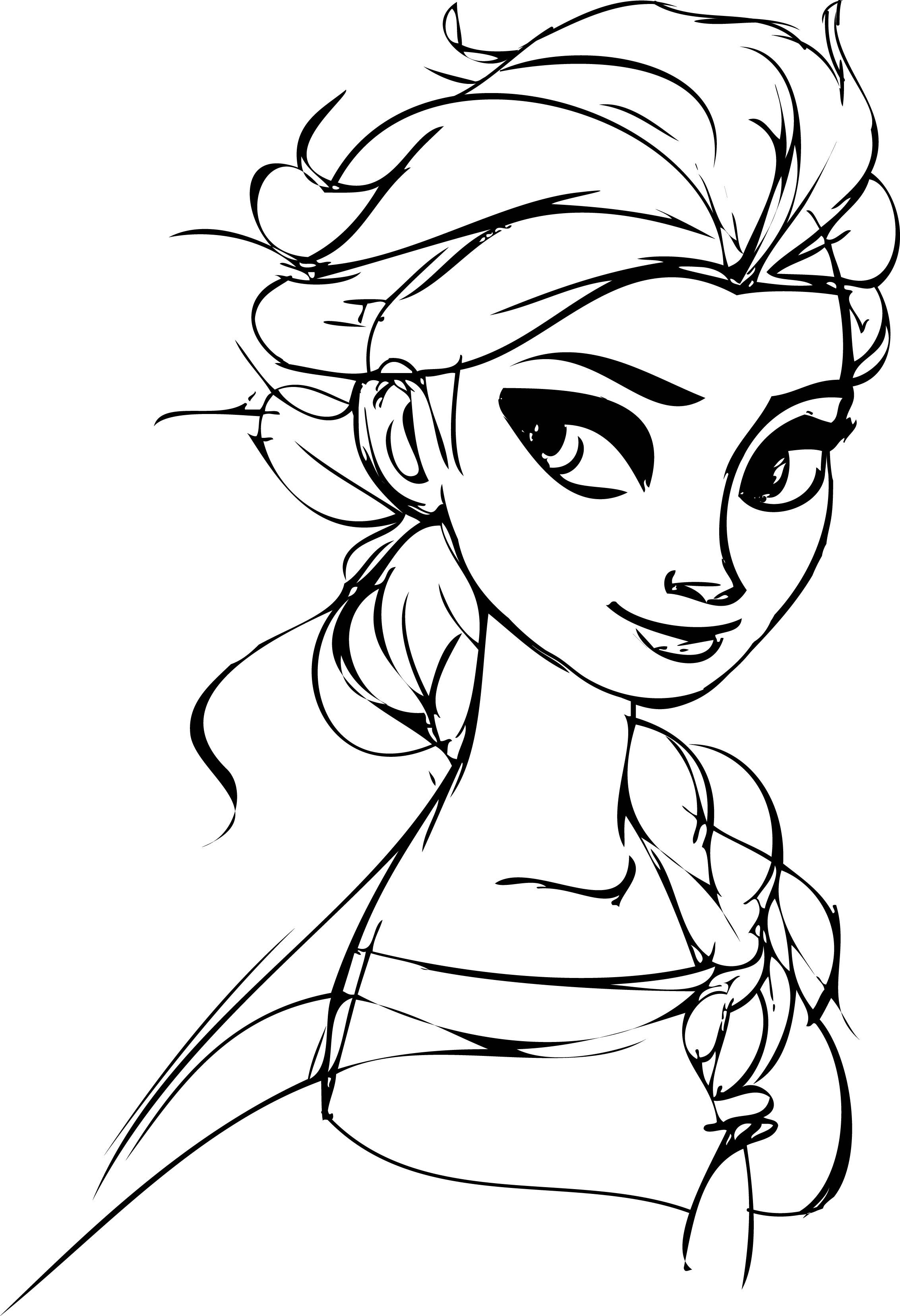 Awesome Elsa Look Coloring Page