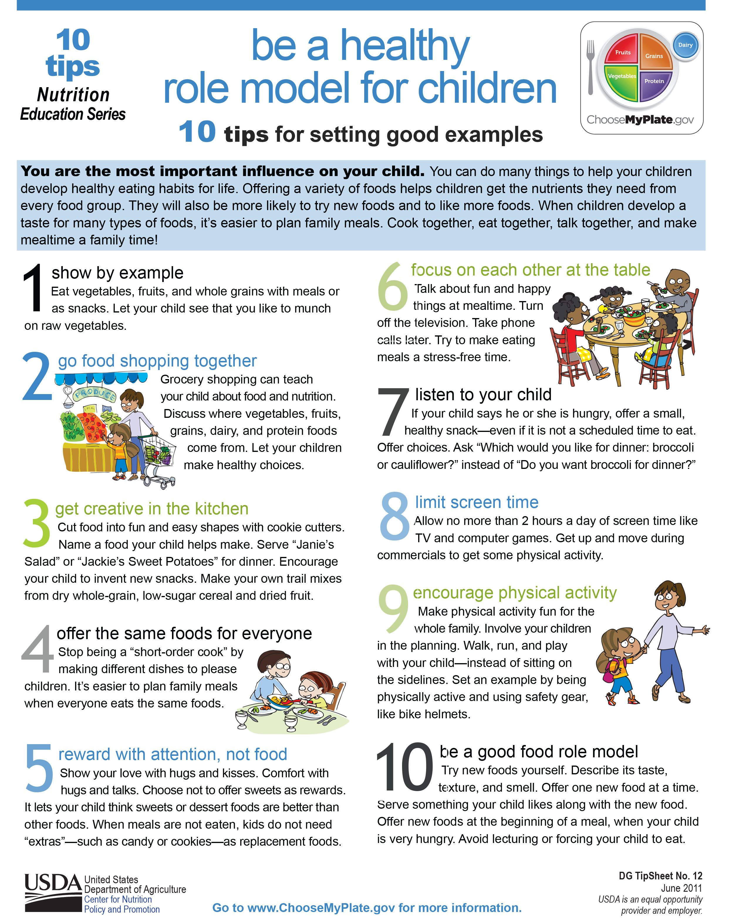 Here Are 10 Tips To Help You Set A Good Healthy Example For Kids