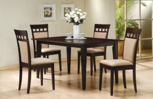Super 5Pc Dining Table 4 Upl Back Chairs Dining Room Dining Andrewgaddart Wooden Chair Designs For Living Room Andrewgaddartcom