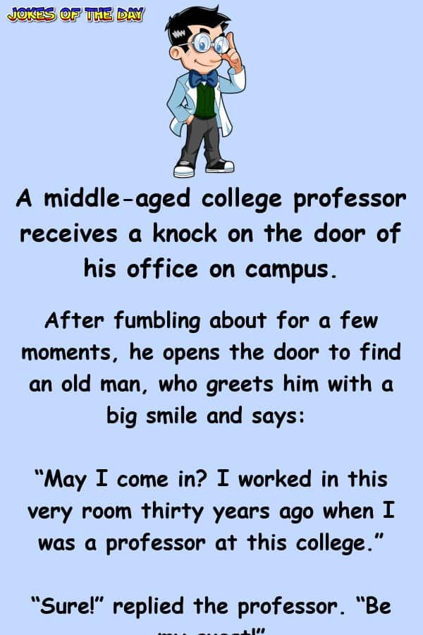 A Middle Aged College Professor Receives A Knock On The Door Of In 2020 College Professor Professor Funny Cartoon Quotes