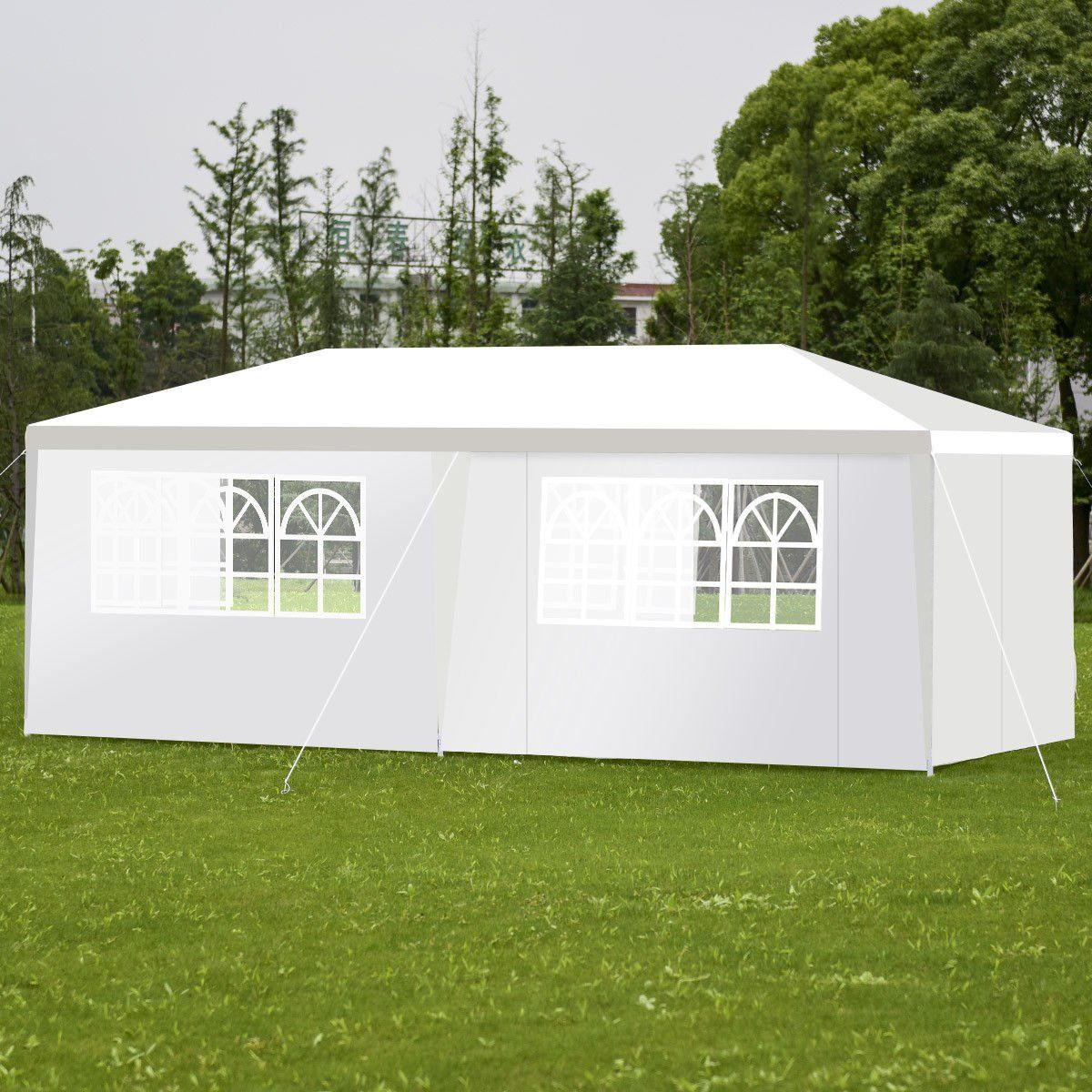 Tangkula Outdoor 10x20 Canopy Tent Heavy Duty Wedding Party Tent With 4 Removable Enclosure Sidewalls And 2 Zipp Canopy Tent Outdoor Canopy Tent Wedding Canopy