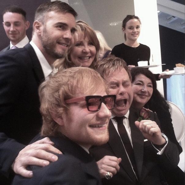 Ed Sheeran 'robó' los lentes de Elton John y él reaccionó así - Zona Pop Peru