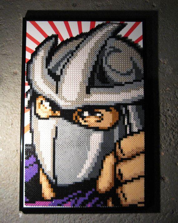 Shredder TMNT by Z3r0k3w1 on Etsy | Perler Ideas | Pinterest