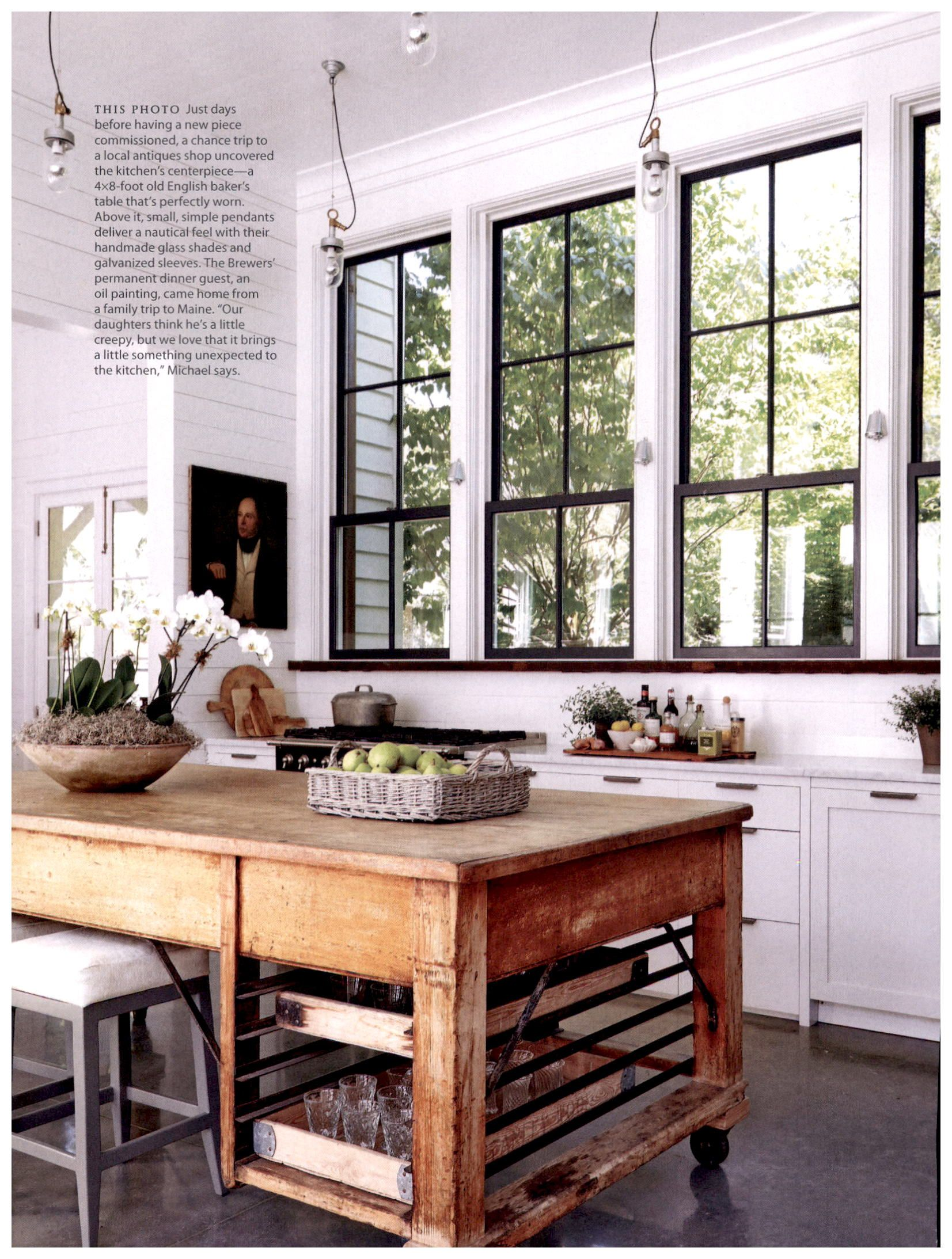 country home winter 2016 4x8 foot old english baker s table that s perfectly worn home on kitchen interior table id=93476