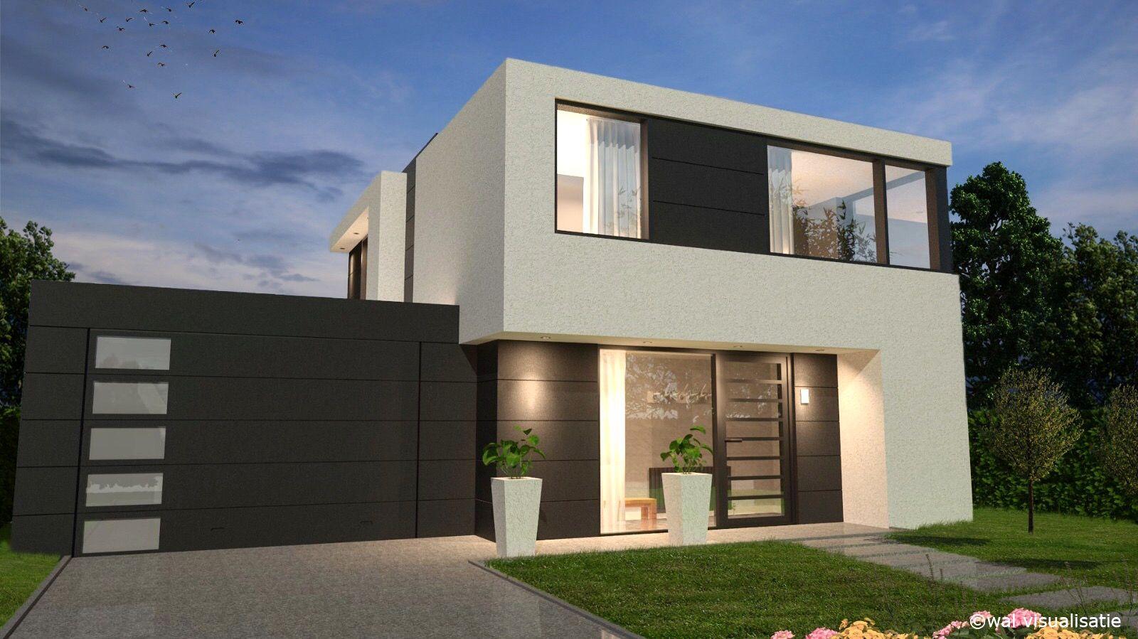 Visualisatie van een moderne woning. #architectuur #visualization