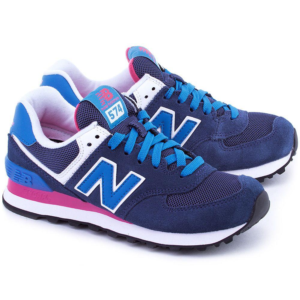 New Balance Classics Traditionnels 574 Granatowe Zamszowe Sportowe Damskie Wl574moy New Balance Classics New Balance Shoes