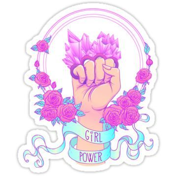 Rosy Girl Power Sticker Tumblr StickersCute StickersPrintable