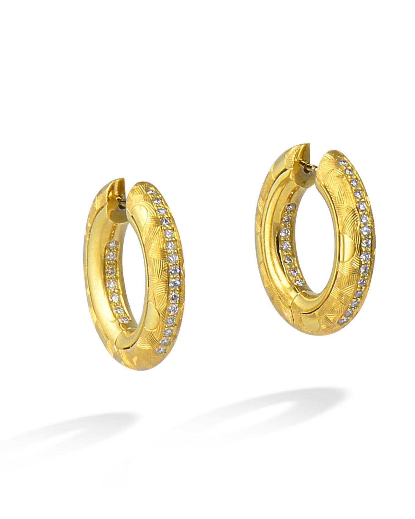 2d4207d0d Julia Hoops by Michael Bondanza   EARRINGS   Earrings, Jewelry, Rain