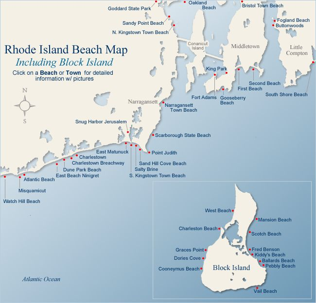 Places To Visit North East Coast England: Map Of Beaches In Rhode Island, Charlestown Was My