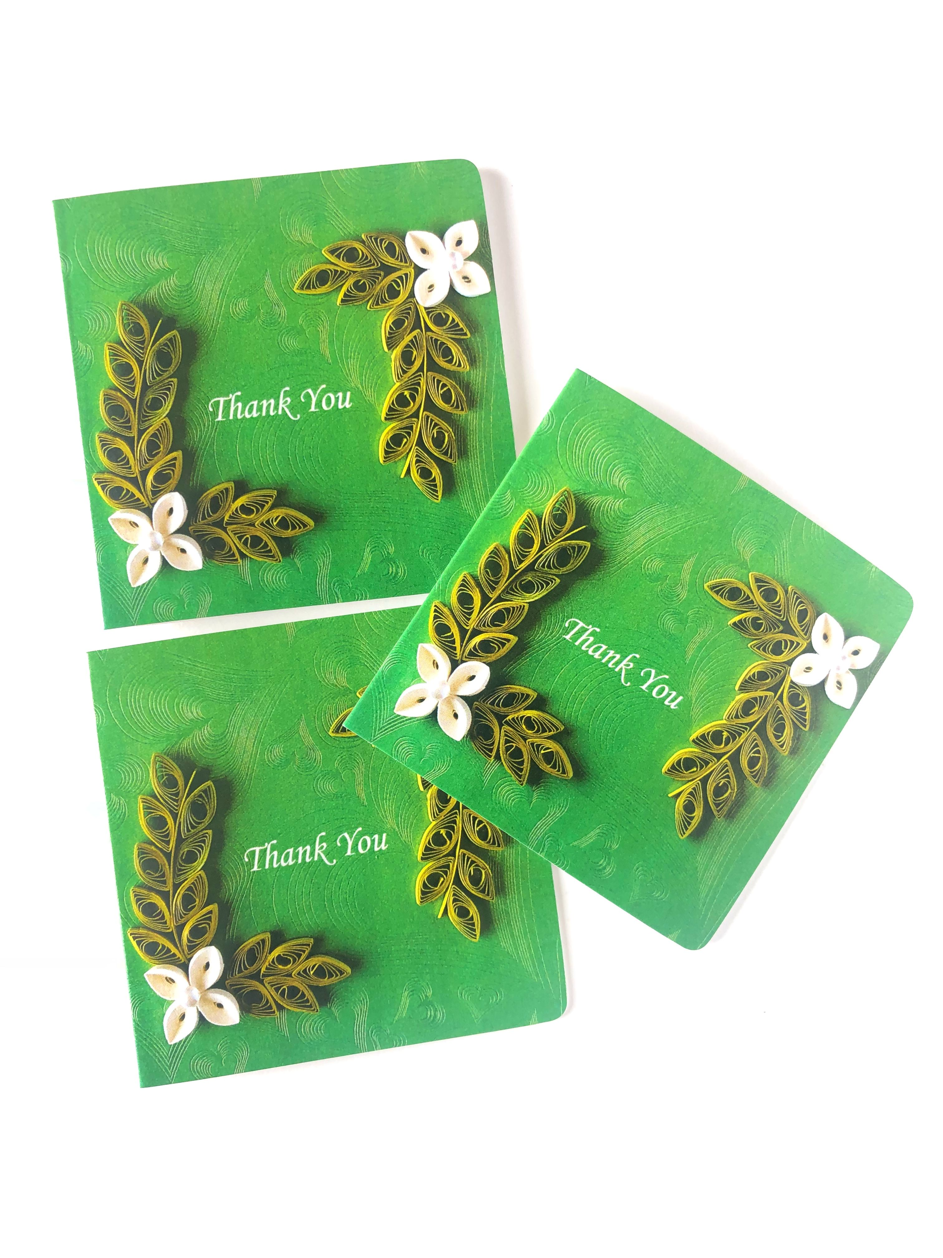 Floral Thank You Note Cards, Cards for Writing Thank You