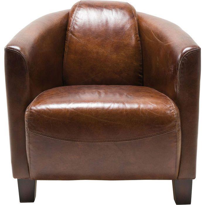 Armchair Cigar Lounge Brown   KARE Design