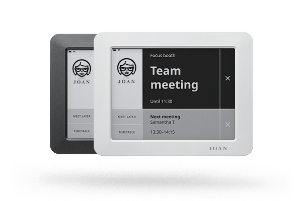 The Simplest Meeting Room Booking Solution Meet Joan Meeting Room Booking System Meeting Room Room Display