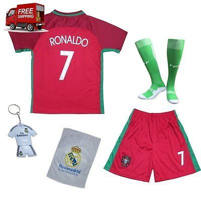 pretty nice 3f1fd 5bd33 HOT!2018 Portugal Cristiano Ronaldo 7 Home Red Kids Youth ...