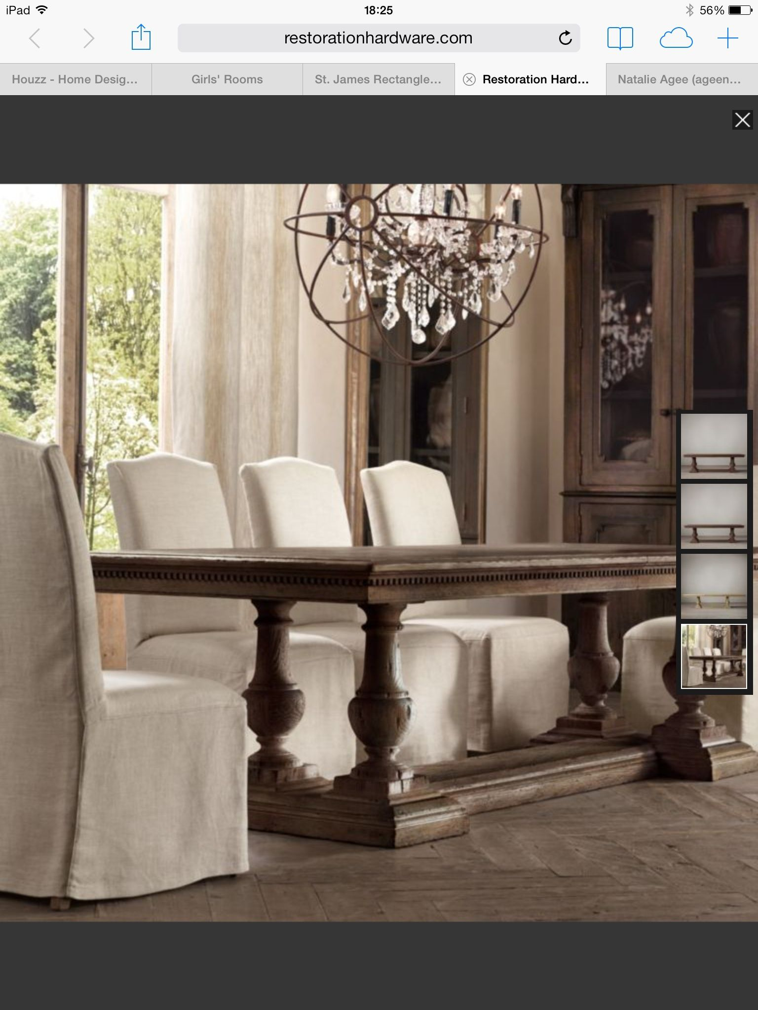 St. James Dining Table In Antique Coffee From RH. Like This Look For Dining