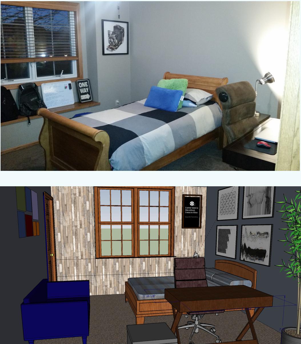 Teen boy bedroom design concept using SketchUp software   Enchanting ...