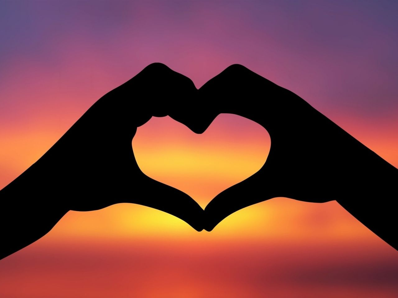 Laska Obrazky Tapety Srdce Ruce Vektoru Obloha Pozadi Silueta