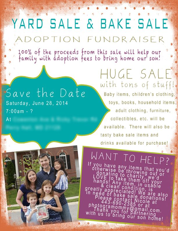 Adoption Yard Sale blurred 72ppi Adoption Fundraising Pinterest
