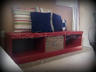 an old dresser cut down into a bench #seating #diydecor