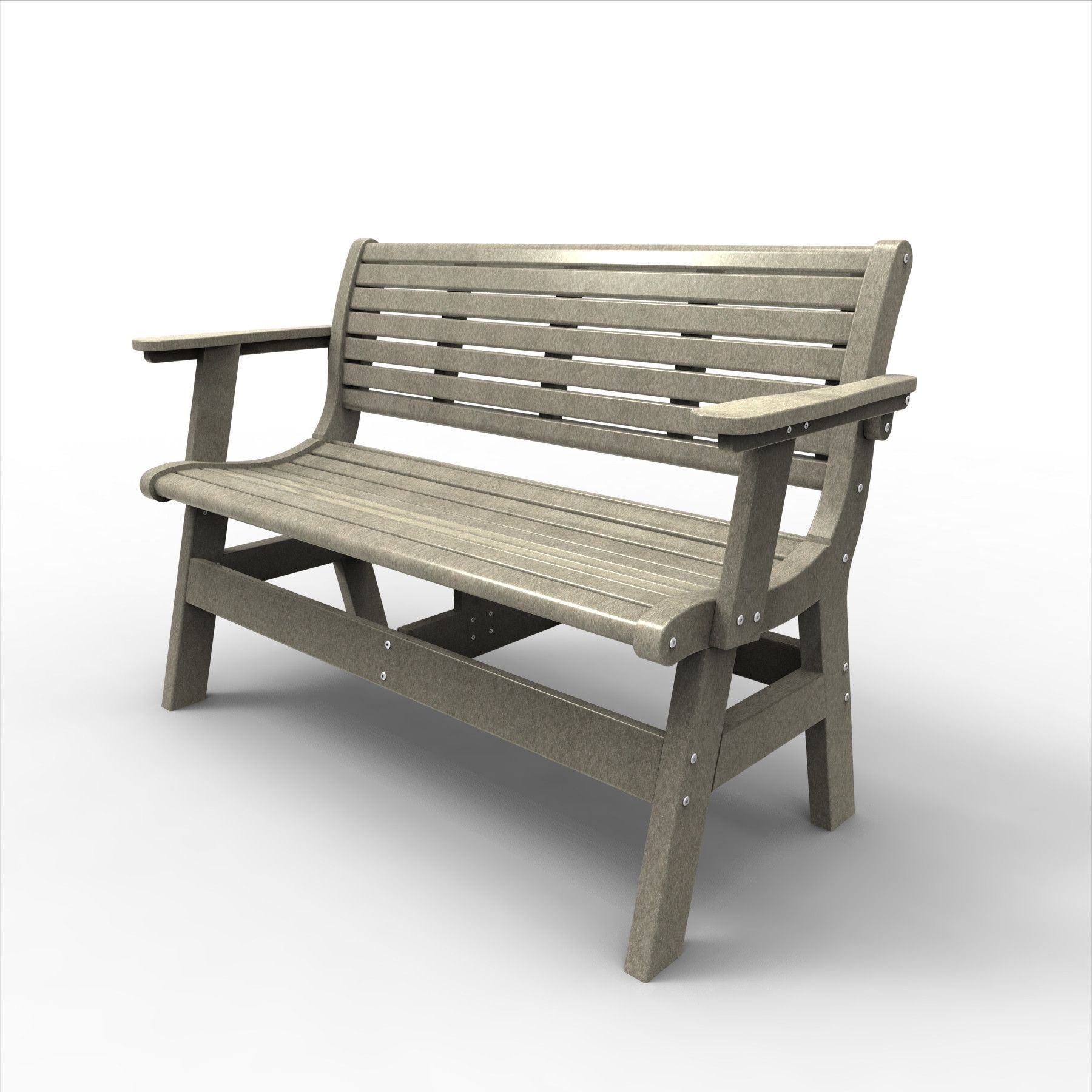 Malibu Outdoor Living Newport 48IN. Bench with Back Arms and Back