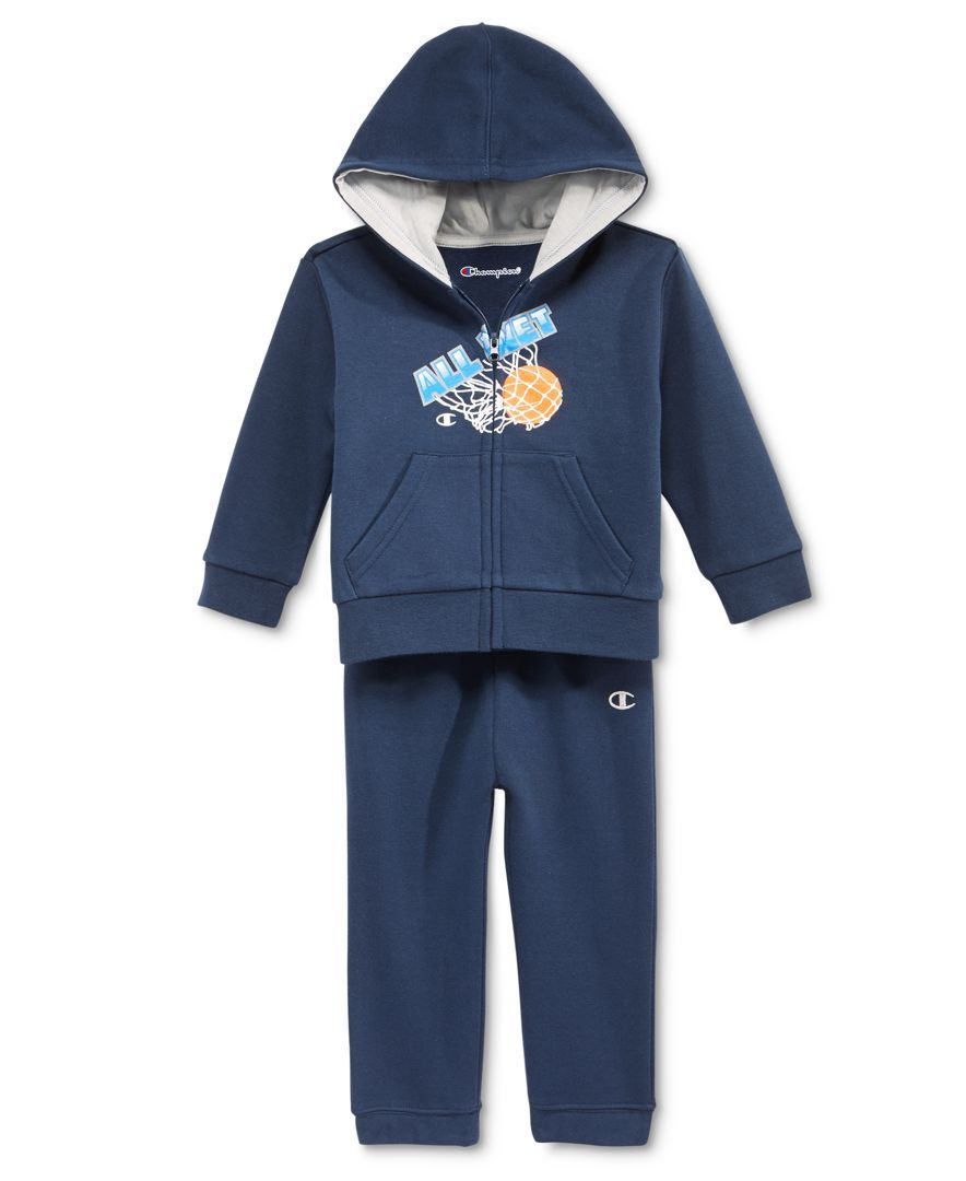 6d6d4863610e Champion Baby Boys  2-Pc. All-Net Zip-Up Hoodie   Pants Set ...
