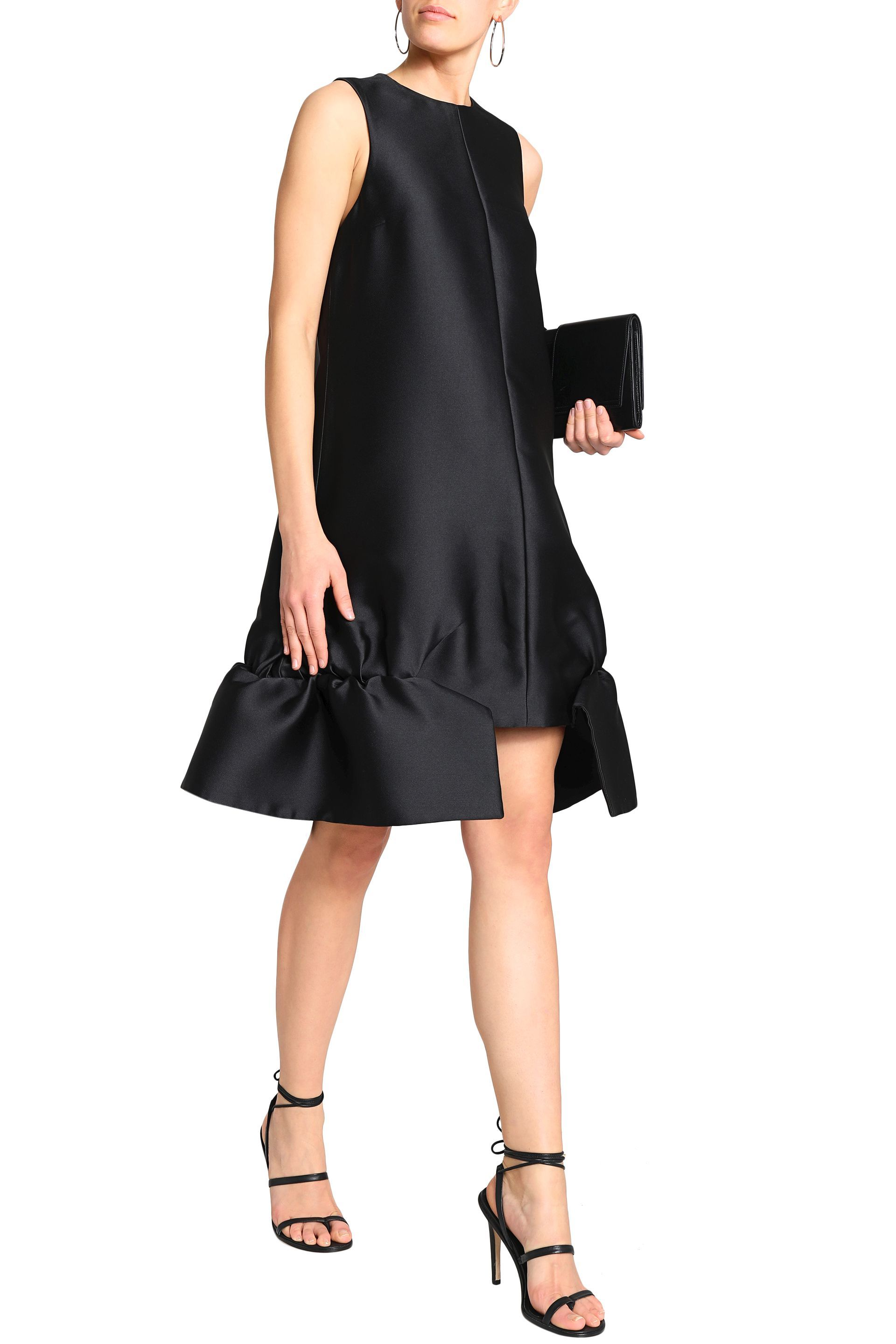 Black Cutout duchesse satin dress | Sale up to 70% off | THE OUTNET | VICTORIA, VICTORIA BECKHAM