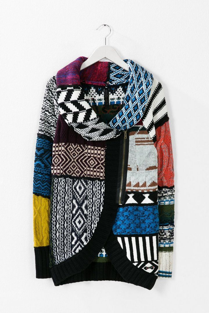 Sweater with asymmetric fastening  | Desigual.com G