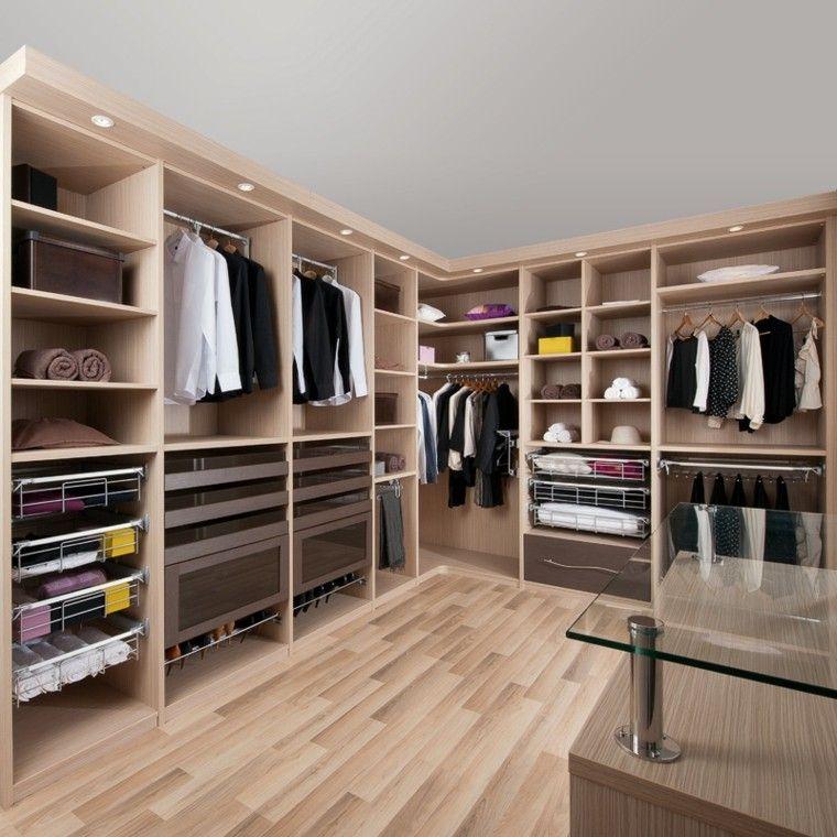 Vestidor de madera laminada vestidor pinterest - Disenar armarios empotrados ...