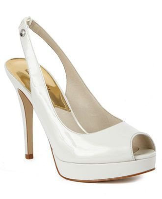 White-hot! MICHAEL Michael Kors #shoes #pumps #slingback #opentoe BUY NOW!