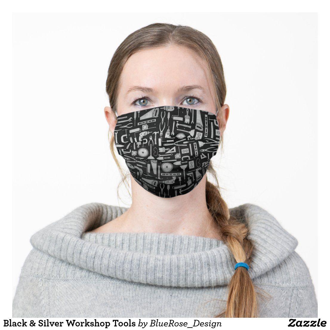Diy Face Mask Discover Black & Silver Tools Cloth