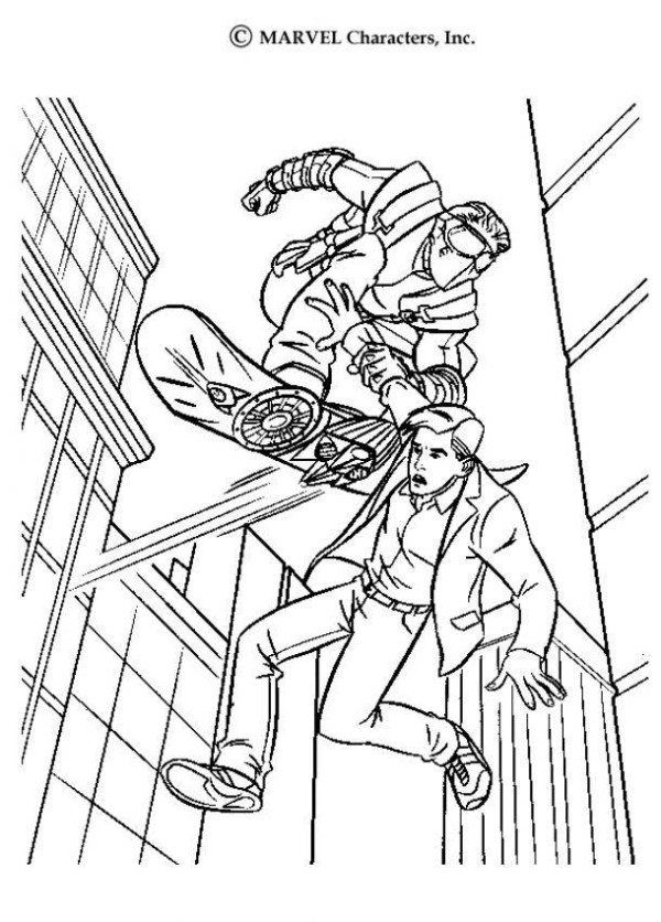 Goblin Catch Peter Parker Spiderman Coloring Page | coloring pages ...