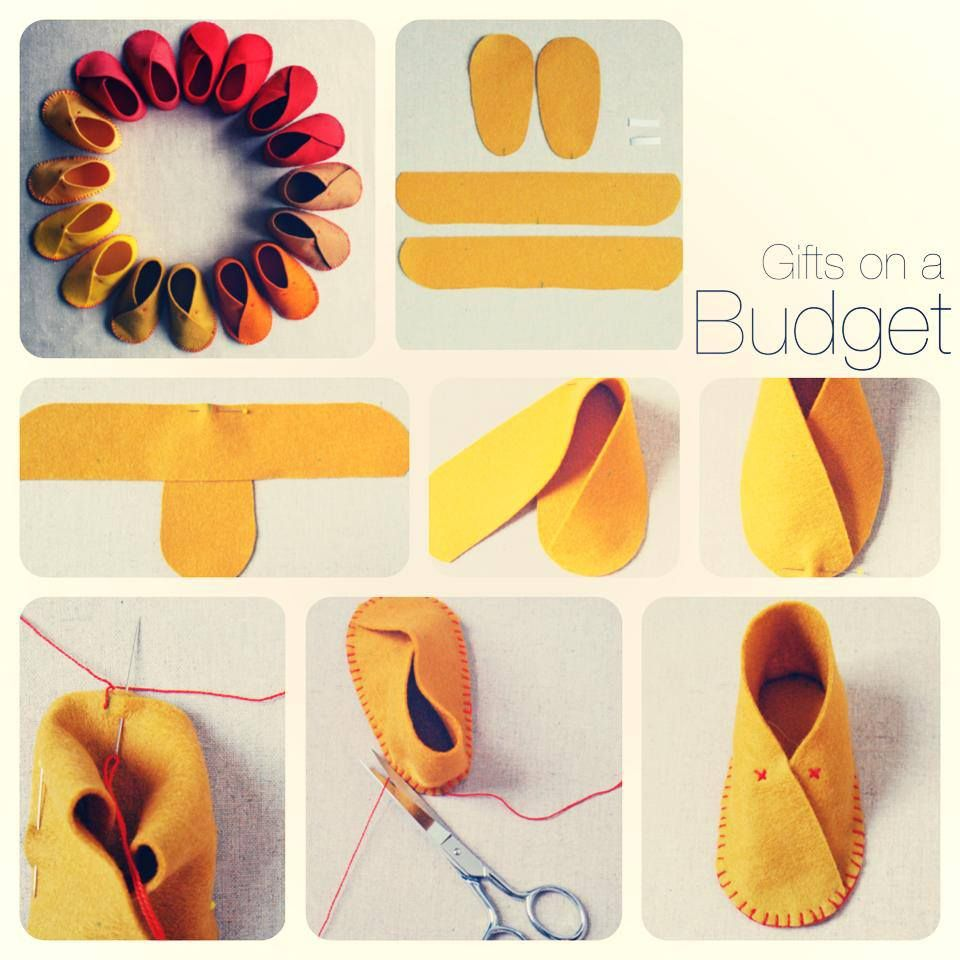 how to make felt baby moccasins