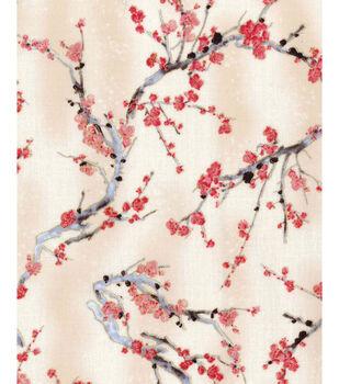Premium Quilt Cotton Fabric Cherry Blossom Trees Cherry Blossom Tree Blossom Trees Cherry Blossom Print