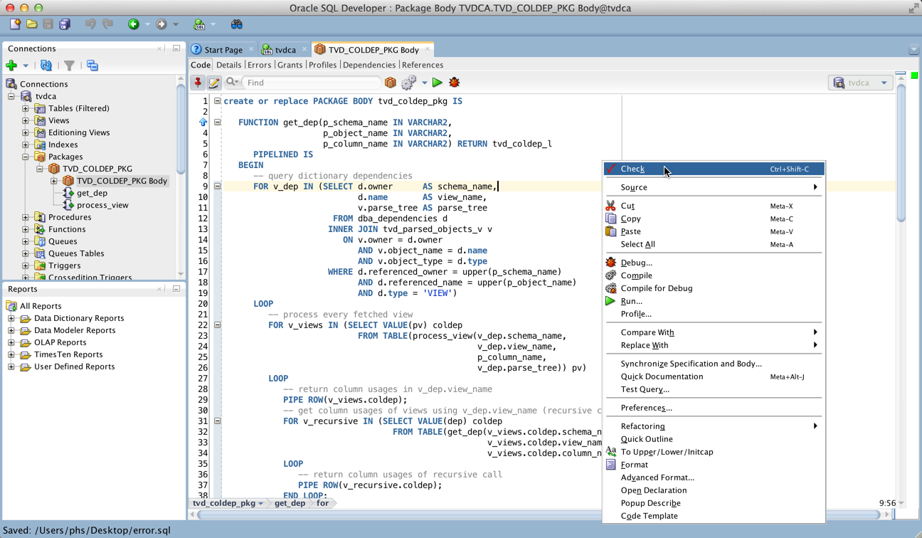Pl Sql Cop For Sql Developer Check Pl Sql Development Sql