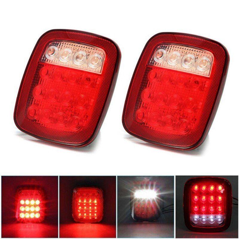 1 Pcs 12v Led Tail Light For Trailer Car Truck Led Rear Tail Light Warning Lights Rear Lamps Taillight Lamps Light In 2020 Warning Lights Cars Trucks Truck Lights