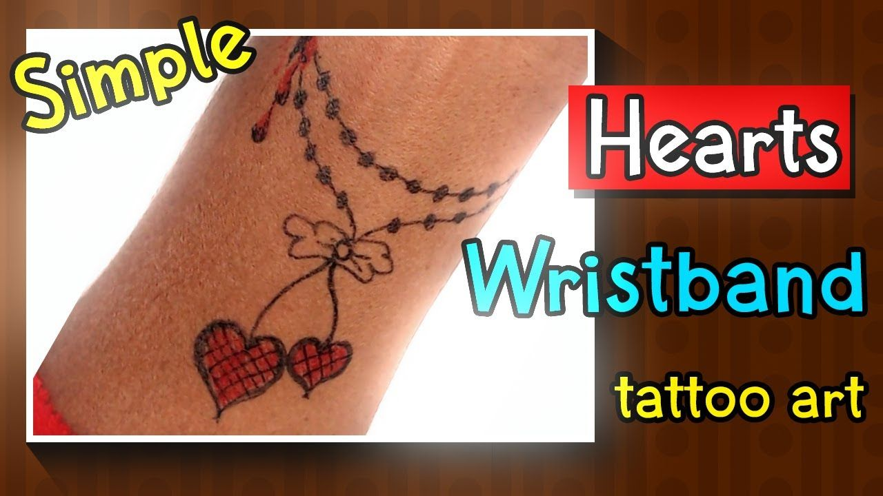 Photo of Pearls with beautiful Hearts Bracelet Tattoo ❤Easy Homemade Tattoo ❤Love Tattoo ❤ New tattoo