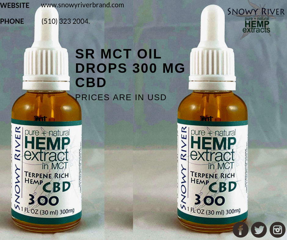 SR MCT Oil Drops 300 mg CBD - MASTER CARD ONLY - PRICES are